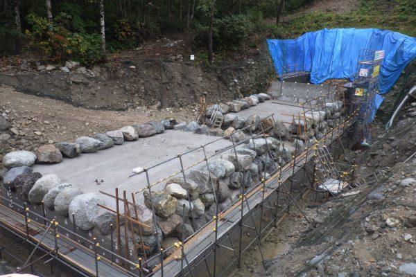 H30真川上流第1号砂防堰堤工事