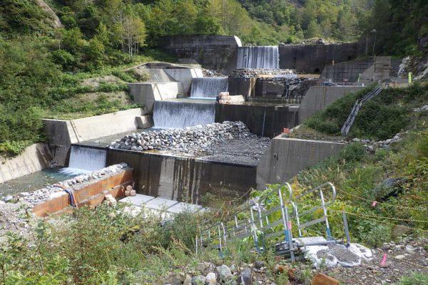 H30水谷第3号砂防堰堤補強工事写真