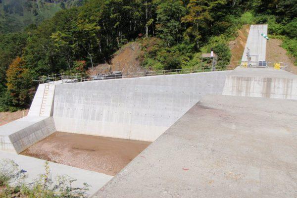 H30兎谷第2号砂防堰堤工事写真