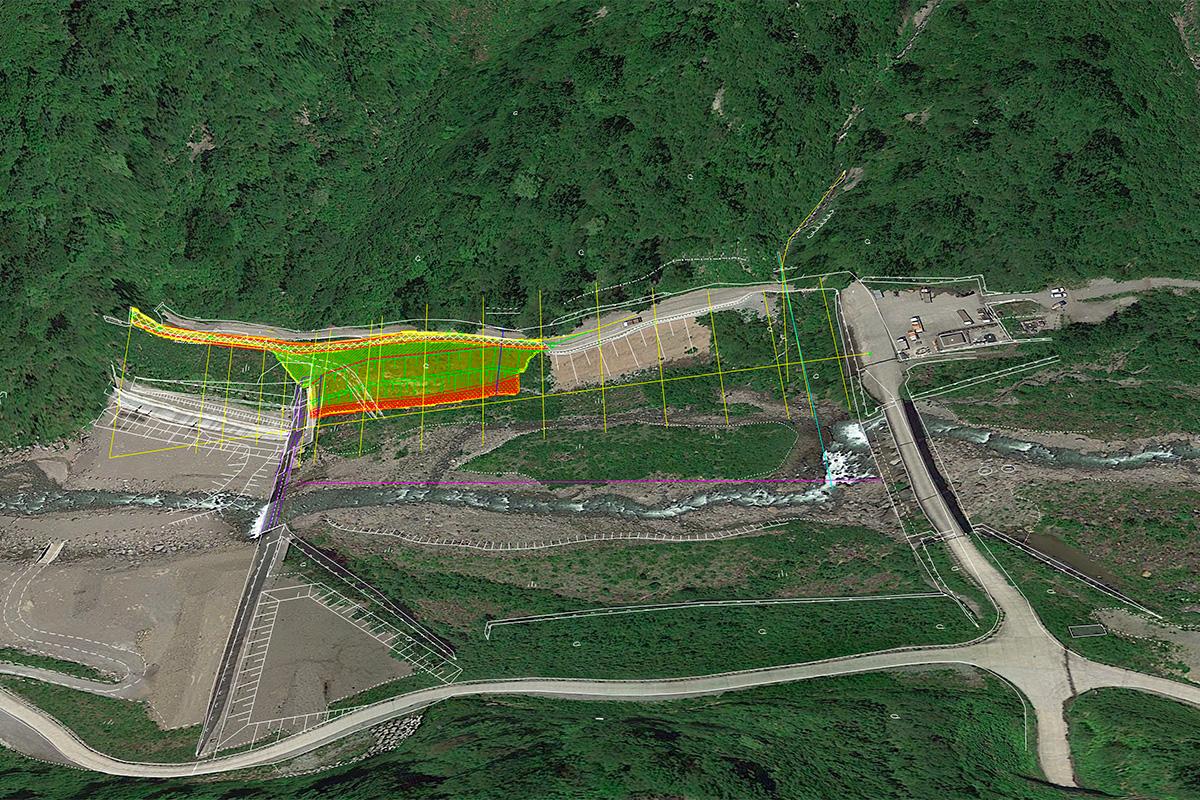H30有峰地区渓岸対策及び工事用道路工事写真