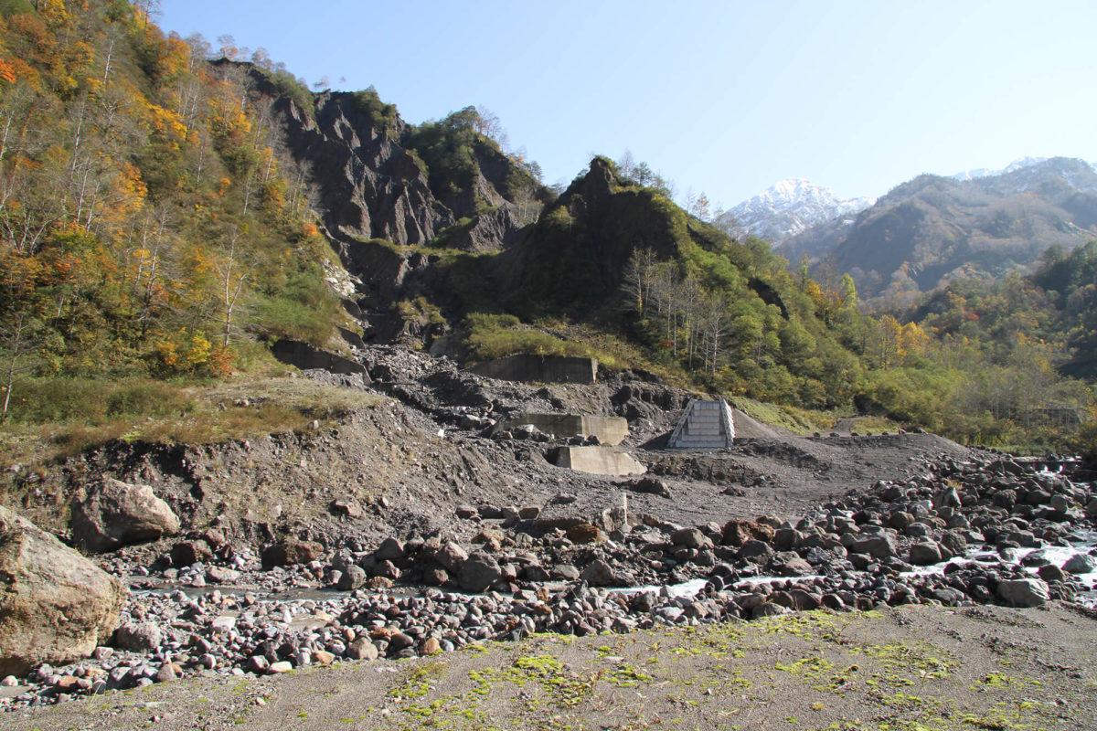 R1 有峰地区渓岸対策(二の谷)工事写真