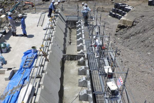 堰堤施工の工夫