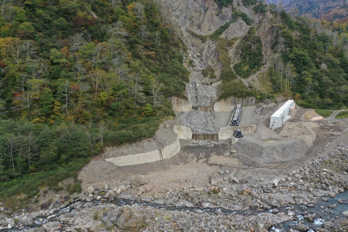 R3 有峰地区渓岸対策(二の谷)工事写真